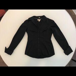 Banana Republic black button down shirt size 4